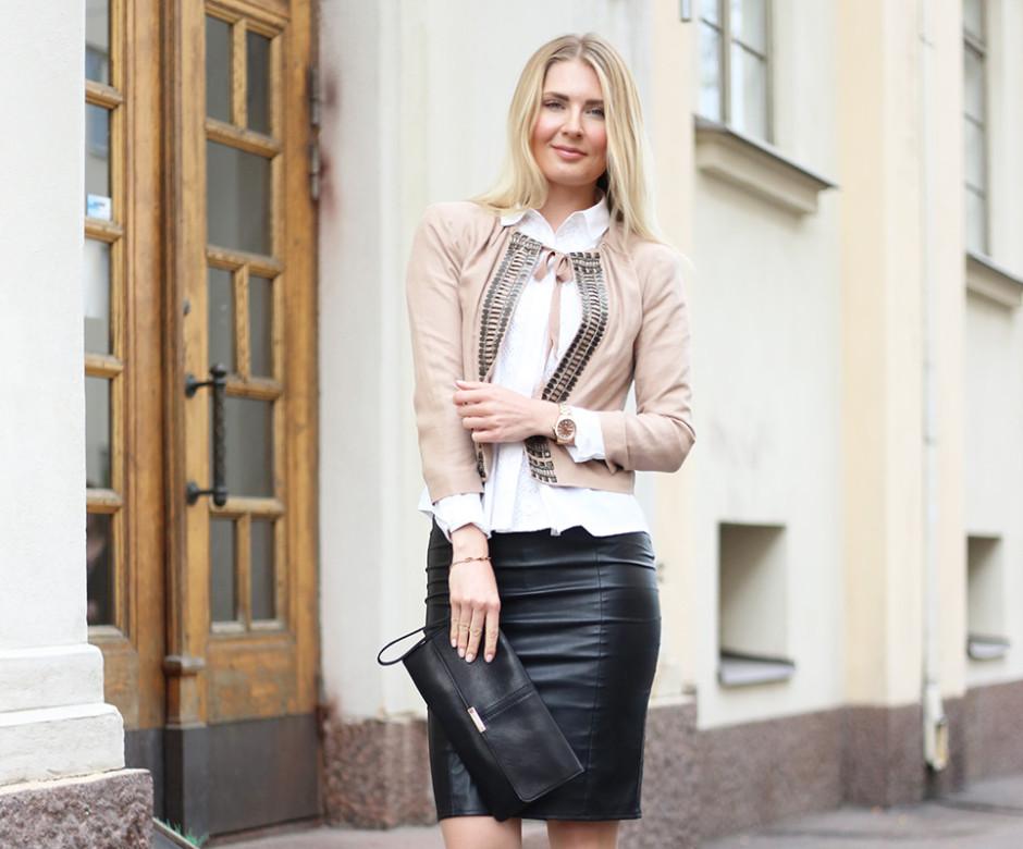 black leather skirt 37
