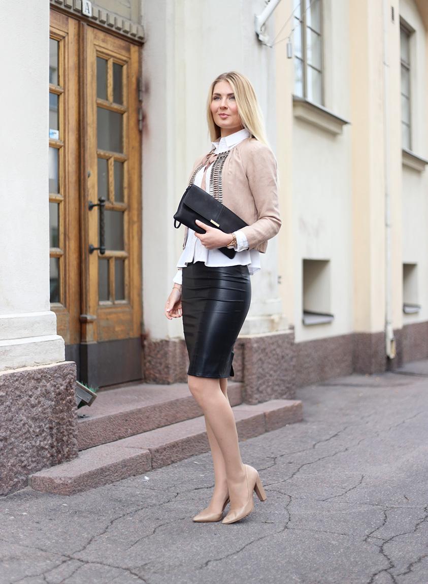 black leather skirt 6