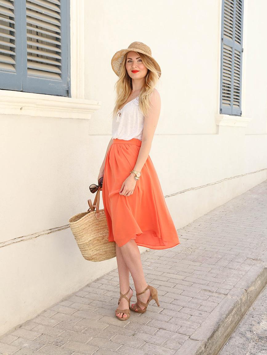 oranssi hame