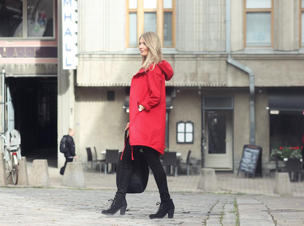 Ihana punainen anorakki | Secret Wardrobe