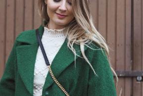 Vihreä oversize-takki