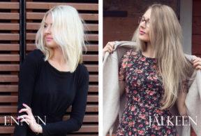 Oman hiusvärin kasvatus takaisin